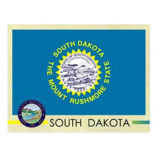 South Dakota State Flag and Seal Postcard