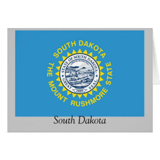 South Dakota State Flag Greeting Card