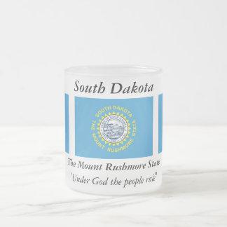 South Dakota State Flag Frosted Glass Mug