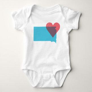 South Dakota State Love Baby Shirt