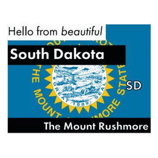 South Dakota The Mount Rushmore State Postcard