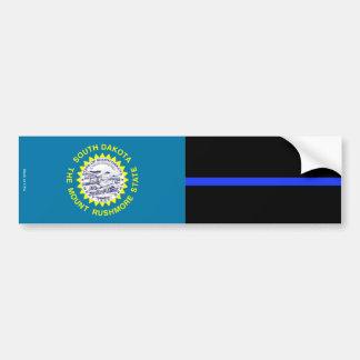 South Dakota Thin Blue Line Bumper Sticker
