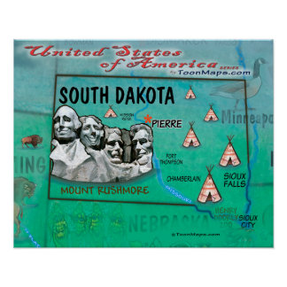 South Dakota USA Poster