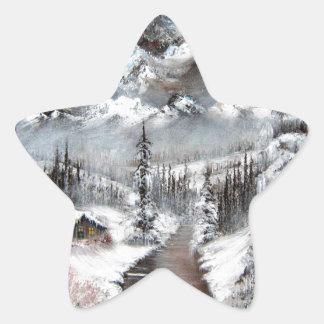 South Dakota Winter Morning Star Sticker