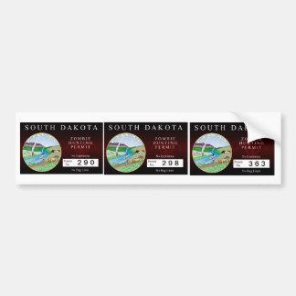 South Dakota Zombie Hunting Permit Bumper Stickers
