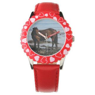 South Devon Beach Dartmoor Pony Standing Looking Wrist Watch