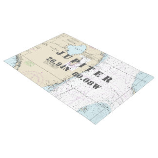 South Florida Latitude Longitude Nautical Boating Doormat