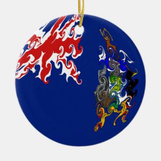 South Georgia Gnarly Flag Christmas Ornaments