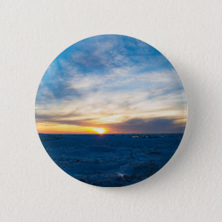 South Haven Lighthouse Frozen Lake Michigan 6 Cm Round Badge