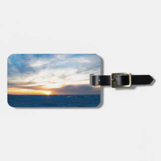 South Haven Lighthouse Frozen Lake Michigan Luggage Tag