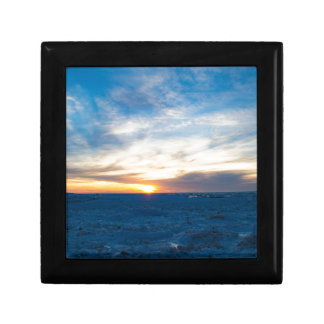 South Haven Lighthouse Frozen Lake Michigan Small Square Gift Box