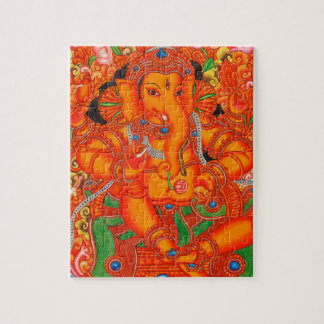 SOUTH INDIAN LORD GANESH TANJORE PAINTING PUZZLE