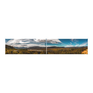 South Island Golden Plains at the Clay Cliffs Canvas Print