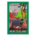 South Island New Zealand (border) Poster