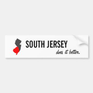 """""""South Jersey Does it Better"""" NJ Bumper Sticker"""