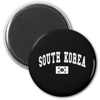 SOUTH KOREA 6 CM ROUND MAGNET