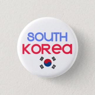South Korea and a (south korean flag) 3 Cm Round Badge