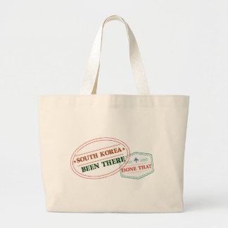 South Korea Been There Done That Large Tote Bag