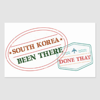 South Korea Been There Done That Rectangular Sticker