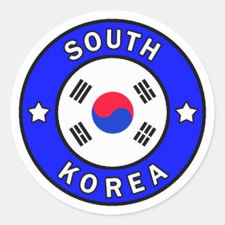 South Korea Classic Round Sticker