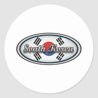 South Korea Classic Round Sticker
