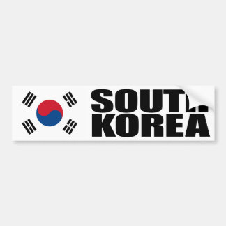 South Korea Flag Bumper Sticker