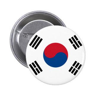 South Korea Flag Button
