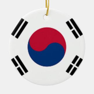 South Korea Flag Ceramic Ornament