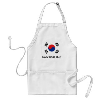 South Korea flag chef apron