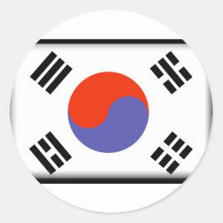 South Korea Flag Classic Round Sticker