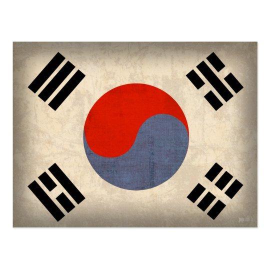 South Korea Flag Distressed Postcards