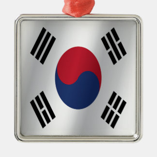 South Korea flag Metal Ornament