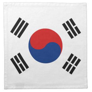 South Korea Flag Napkin