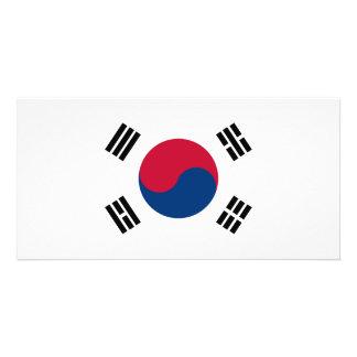 South Korea Flag Photo Greeting Card