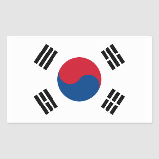 South Korea Flag Rectangular Sticker