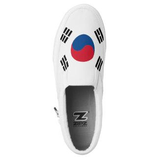 South Korea Flag Slip On Shoes