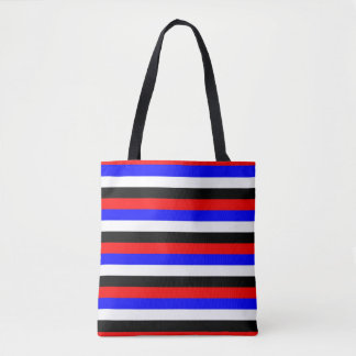 South Korea flag stripes lines colors pattern Tote Bag