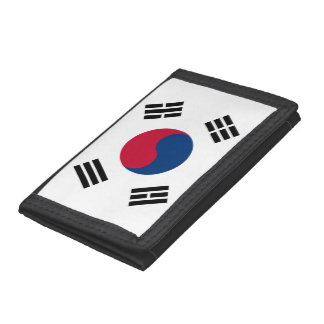 South Korea flag Tri-fold Wallet