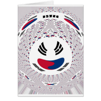 South Korea Graphic Flag Card