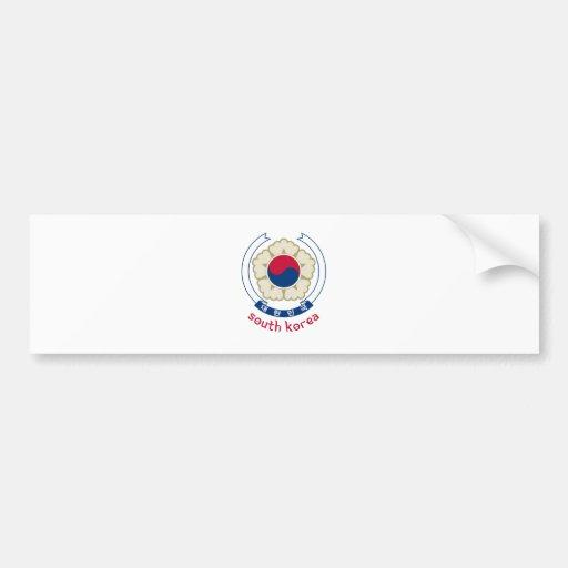 SOUTH KOREA - korean/asia/asian/emblem/flag Bumper Sticker
