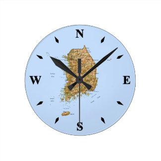 South Korea Map Clock