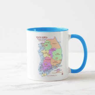 South Korea Map Mug