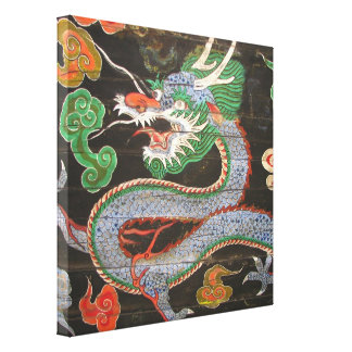 South Korea Namdaemun Sungnyemun Dragon Canvas Print