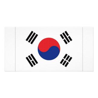 South Korea National Flag Customised Photo Card