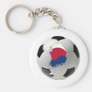 South Korea national team Basic Round Button Key Ring
