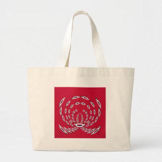 South Korea Polka Dot flag Large Tote Bag