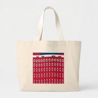 South Korea PolkaDot flag Large Tote Bag