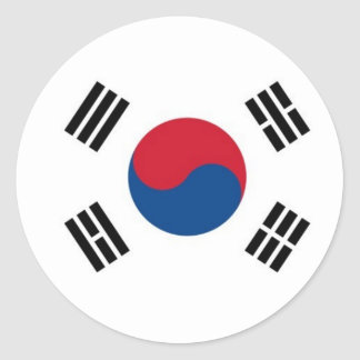 South Korea Round (not for external use) Classic Round Sticker