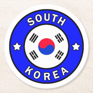 South Korea Round Paper Coaster
