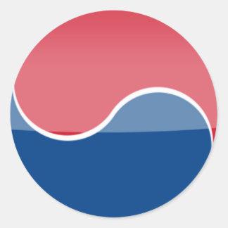 south_korea round sticker